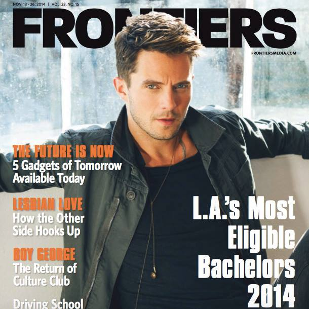 Eli Lieb frontiers magazine cover